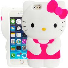 Estuche 3D Hello Kitty Rosado y Blanco Caja Cover Para Apple iPhone 6 y 6S