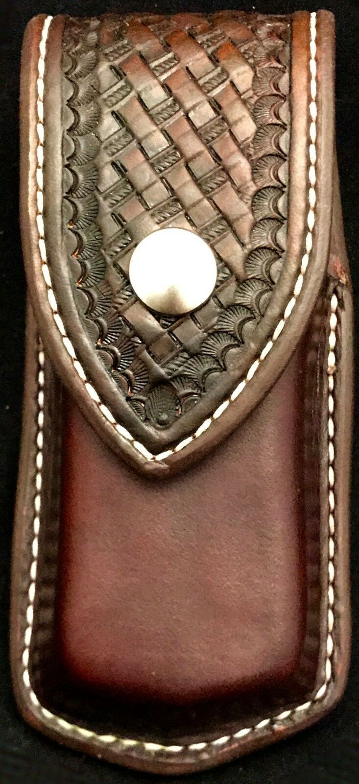 Custom Leder Deluxe Sheath New OHT Lederman Saddle Leder New Sheath Form Fit 18f6d1