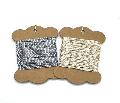 Gold Sparkle Packaging String Christmas Craft 10m Metallic Gold Bakers Twine