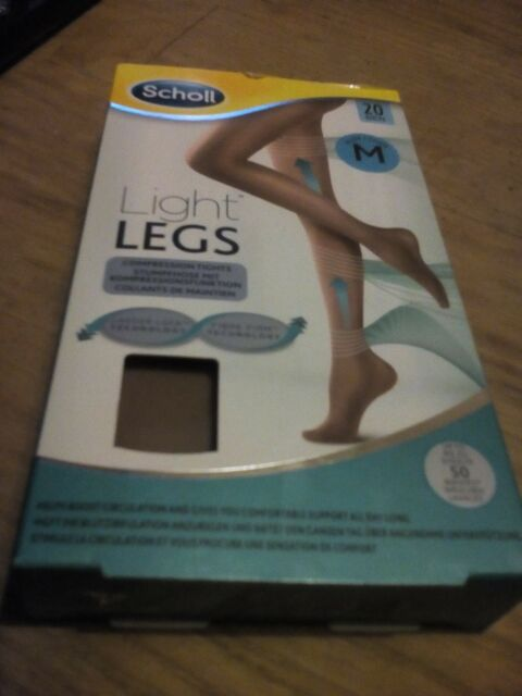 Scholl Light Legs X-Large Womens Compression Tights Circulation 20 Den Nude - XL
