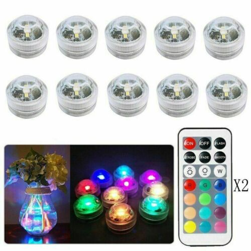 10X Waterproof Remote Control Colored LED Light Boundary Accent Style