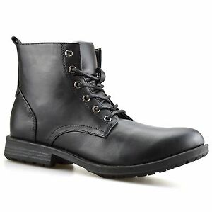 Mens-Combat-Smart-Work-Lace-Up-Ankle-Cowboy-Military-Army-Biker-Boots-Shoes-Size