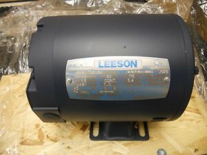 New-101206-00-Leeson-1-3HP-Electric-Motor-1725RPM-J48Y-Frame-Single-Phase