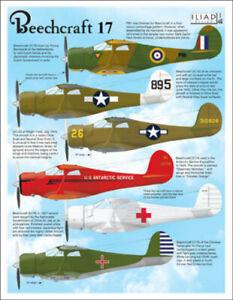Beechcraft 17 / UC43: USAAF, Prince Bernhardt (1/48 decals, Iliad 48031)