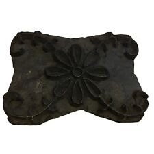 Indian Hand Carved Wooden Printing Textile Blocks Floral