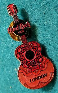 Londres-Inglaterra-2-Tono-Rosa-Mini-Guitarra-Serie-Azul-Logo-Hard-Rock-Cafe-Pin