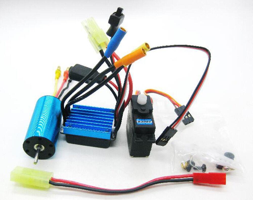 Brushless Kit KV4800 Motor 17g Servo ESC For 1/18 Wltoys A959 A969 A979 RC Car U