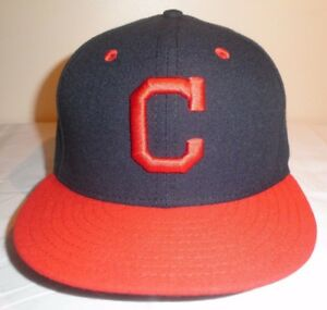 CLEVELAND INDIANS New Era 59FIFTY 5950 Fitted MLB ROAD HAT NWT sz ... 399f01f4d