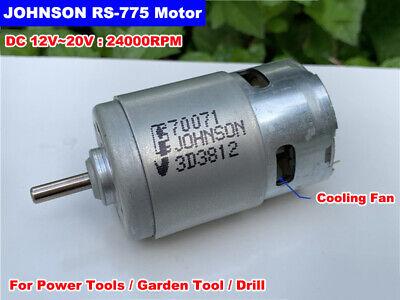 JOHNSON RS-775 DC 12V~18V 21500RPM High Speed Large Torque Garden Drill DC Motor