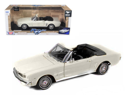 1964 1//2 Ford Mustang Convertible Cream 1:18 Diecast Model 73145-WH *