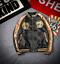 Hommes Veste Blouson Aviateur Manteau broderie Outwear Tiger Stand col Casual L862