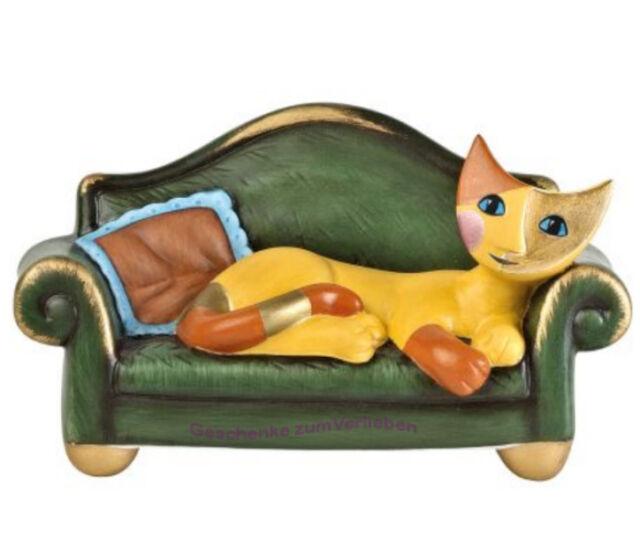 Goebel Rosina Wachtmeister Katze auf Sofa Siesta
