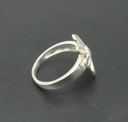 Sterling Silver Flower Ring Solid 925 Taille 3.5-11