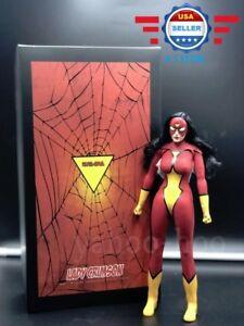 In Stock 1 6 Scale Spider Woman Toys Era Te020 Lady Crimson 12
