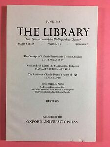 The-LIBRARY-The-Bibliographical-Society-Sixth-Series-Vol-6-No-2-June-1984