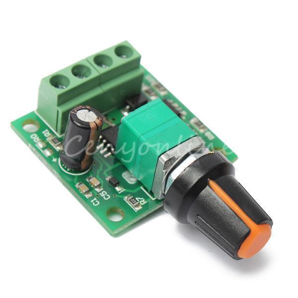 Adjustable DC 1.8V 3V 5V 6V 12V 2A Motor Speed Controller PWM Modulation Switch