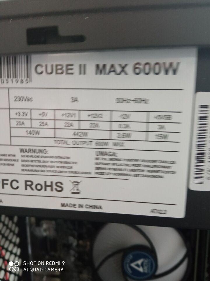 Selvbyg, i5 8400, 3,8 Ghz