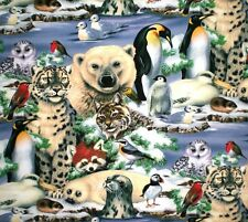 "JUNGLE ANIMALS  OR ARCTIC ANIMALS 20"" CLOTH NAPKINS - SET OF 4 - HANDMADE"