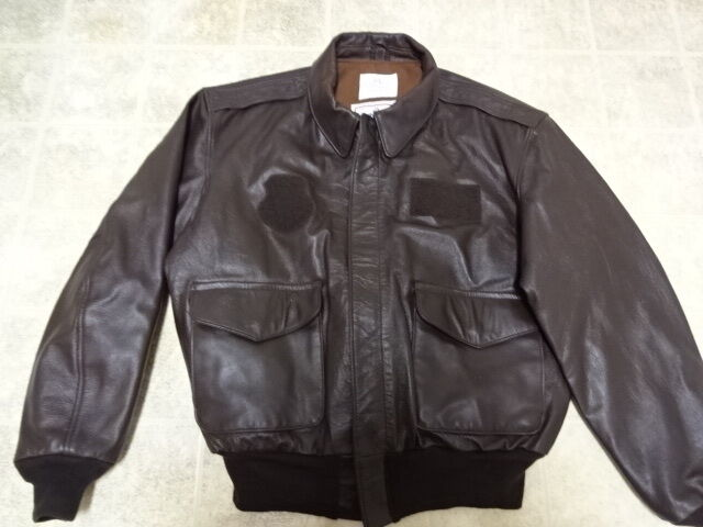 EXCELLENT COND USED ONCE MADE IN USA AVIREX A2 BOMBER LEATHER FLIGHT JACET 46