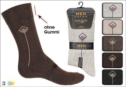 10 Paar Herren Diabetiker Socken  mit Design ohne Gummi beige//braun Töne Top