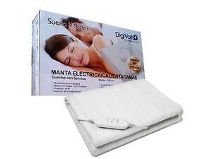 Manta Electrica 150 X 80.Detalles De Manta Electrica De 60 W Con Regulador De Temperatura 150 X 80 Cm Lavable 2592