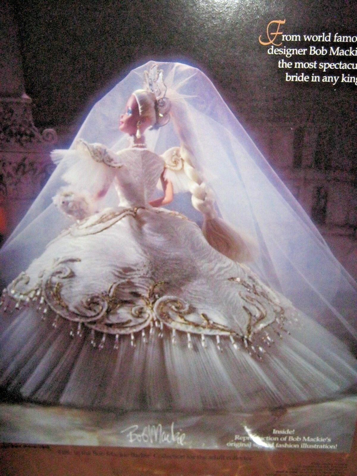 Bob Mackie emperatriz Novia Barbie nunca quitado de la Caja Con Cargador