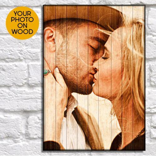 Personnalisé Anniversaire Cadeau Pour Petite Amie Cadeau pour son art photo sur cadre en bois