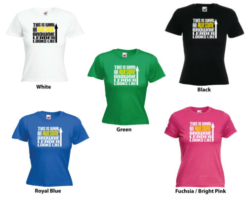 """/""""this is what an awesome brownie leader ressemble/"""" drôle femmes filles t-shirt"""