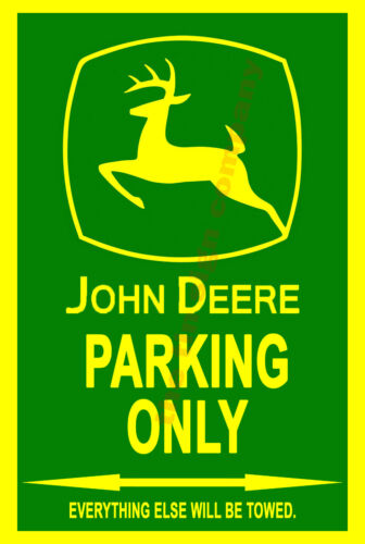 MAN-CAVE GAMES ROOM ETC GREAT FOR BAR JOHN DEERE PARKING WALL SIGN