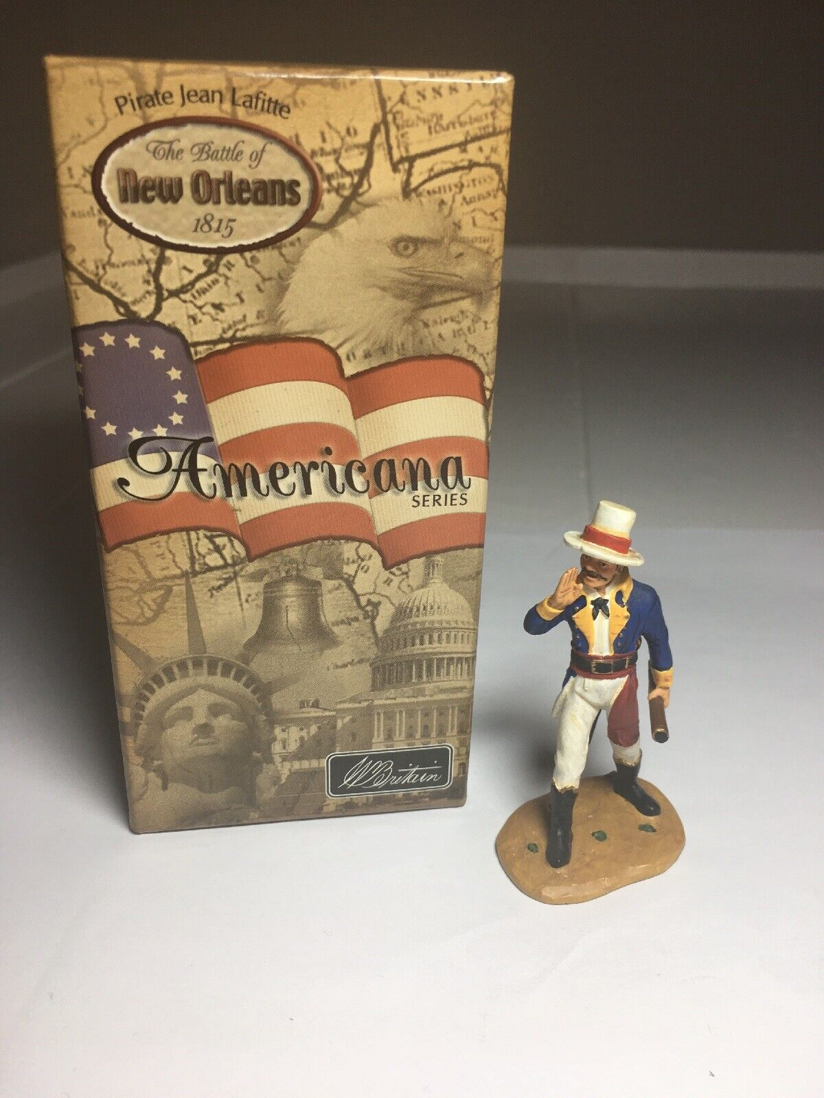 BRITAINS 17474 PIRATE JEAN LAFITTE BATTLE OF NEW ORLEANS WITH PAPERWORK
