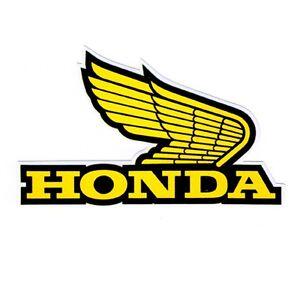 HONDA YELLOW WING LOGO CAR MOTORCYCLE BIKE RACING TEAM ...