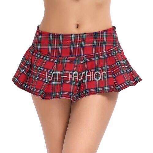 Women Japanese Schoolgirl Skirt Students Mini Plaid Halloween Lingerie Set Dress