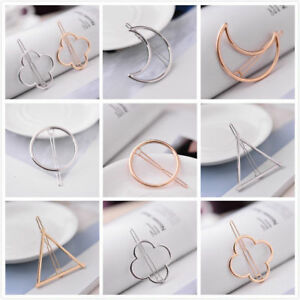 Fashion-Geometric-Moon-Hair-Clip-Hairpin-Snap-Barrette-Bobby-Hairpin-Stick-Claw