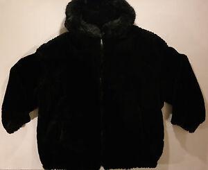 En Gallery Størrelse Kvinder Coat Sort W 14 16 By Furry Hood vqUdq06