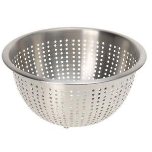 Sieb mit Henkel und Fuß D 24 cm Edelstahl  Durchschlag Küchensieb Nudelsieb
