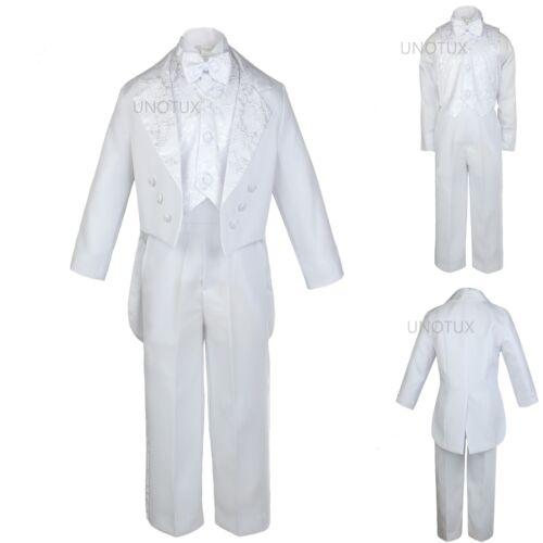 New Infant Boy /&,Toddler Wedding Communion Baptism Tuxedo White Suit S-XL,2T-20