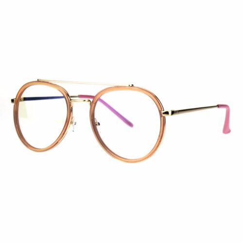 Vintage Fashion Clear Lens Glasses Double Frame Aviator Eyeglasses UV 400