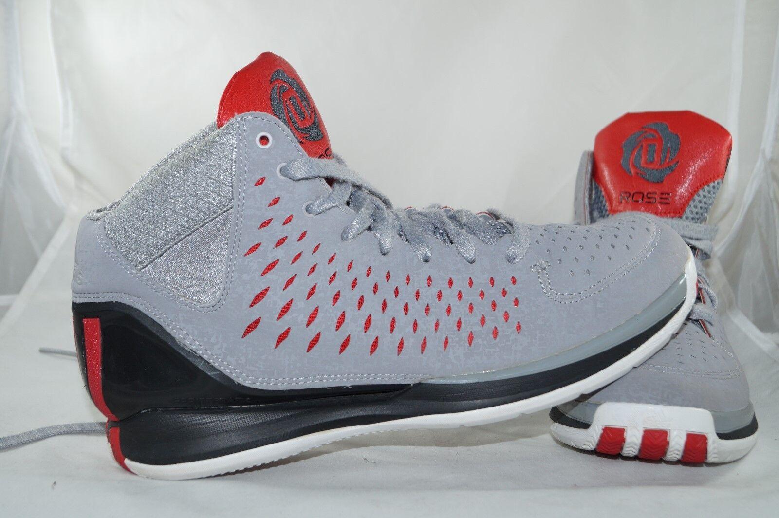Adidas D Rose 3 Chicago Bulls High Tops Baskatball Gr: 43 1/3 Grau Sprint Frame