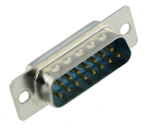 2 x 15-Way D Sub Connector Male Plug Solder Lug