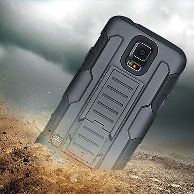 Shockproof Rugged Rubber Hybrid Hard Clip Case Cover For Samsung Galaxy S5 i9600