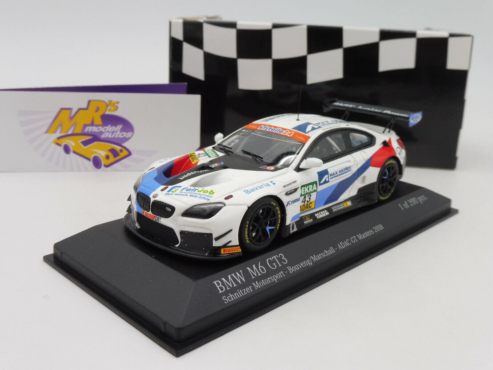 MINICHAMPS 447182643   BMW m6 gt3 ADAC GT-Masters 2018 No. 43  maréchal  1 43