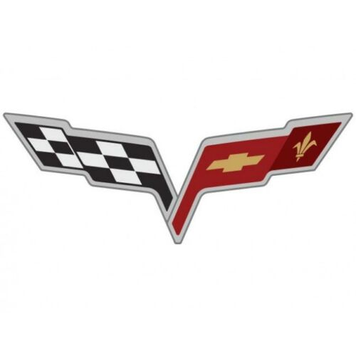 C6 Corvette Flag Logo Sticker Decals 6 for 2005-2013 Wheel Rim Center Cap