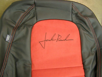 NOS 2010 Ford Mustang Roush Conv. Seat Covers Black Leather + Red Suede Inserts