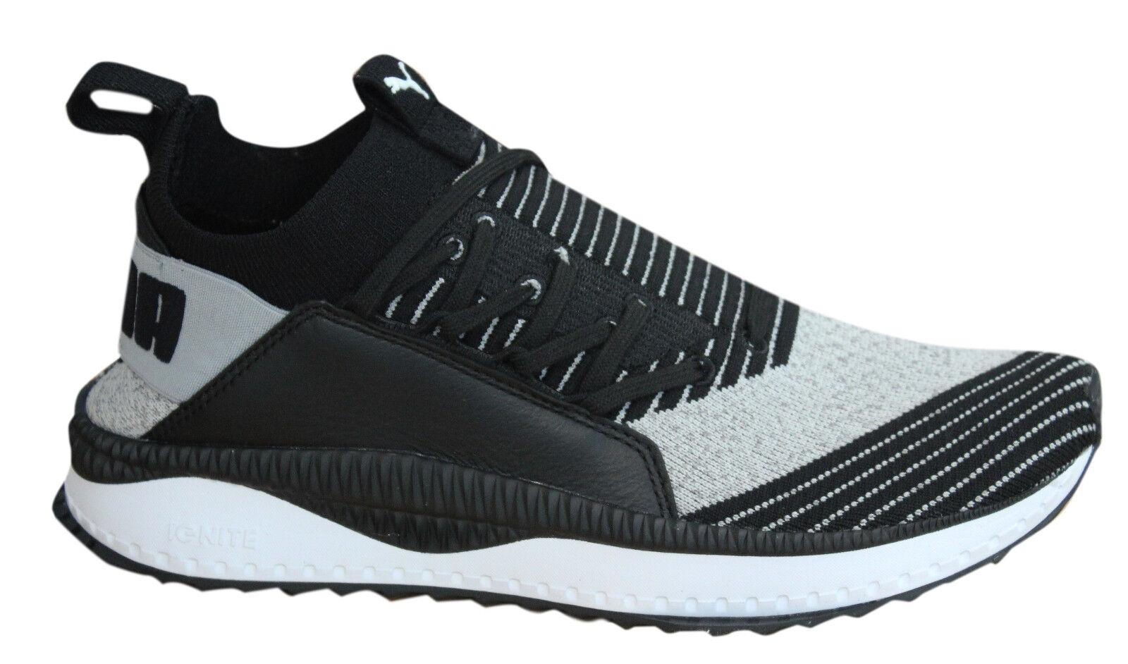 Puma TSUGI Jun Lace Up Grey Black Sock Fit Mens Trainers Shoes 365489 03 U60