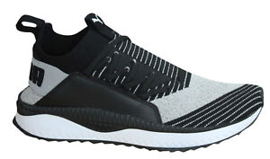 Puma TSUGI Jun Lace Up Grey Black Sock Fit Mens Trainers Shoes ... 088a16802