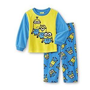 f802db52d41142 Details zu Minions Kinder Jungen Fleece kuschel Schlafanzug langarm Top  Hose Pyjama 98 104
