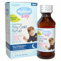 Hylands Homepathic Medicine Cold Syrup - Nighttime Tiny - Baby - 4 Fl Oz