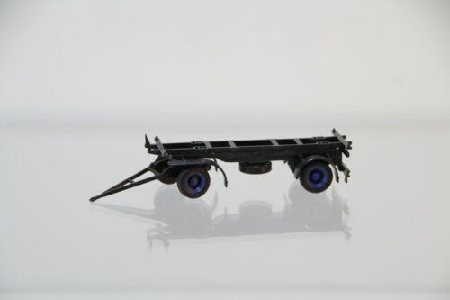 Herpa lafette-remolque para cambio catre-negro-azules llantas//h2855