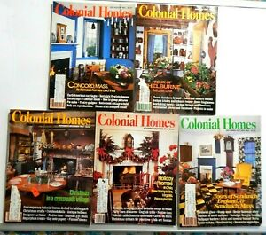 Lot of 5 Colonial Homes Magazines 1983 - 1984