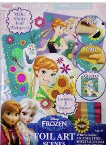 Disney-Frozen-Princess-Activity-Foil-Art-Scenes-Elsa-Olaf-Arts-Crafts-Stickers